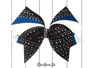 Turquoise blue cheer bow