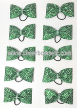 Load image into Gallery viewer, emerald green tailless cheer bow
