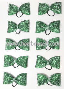 emerald green tailless cheer bow