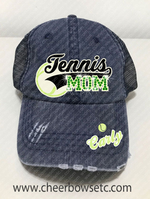 Tennis Mom Rhinestone Hat