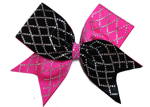 The Tick Tock Diamond Cheer Bow
