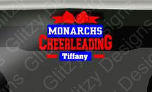 Load image into Gallery viewer, Monachs Cheer Spirit Personalized Decal