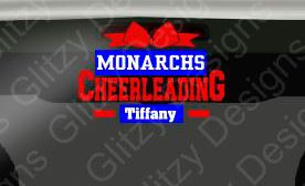 Monachs Cheer Spirit Personalized Decal