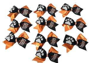 Tick Tock Tigers School Spirit Bows