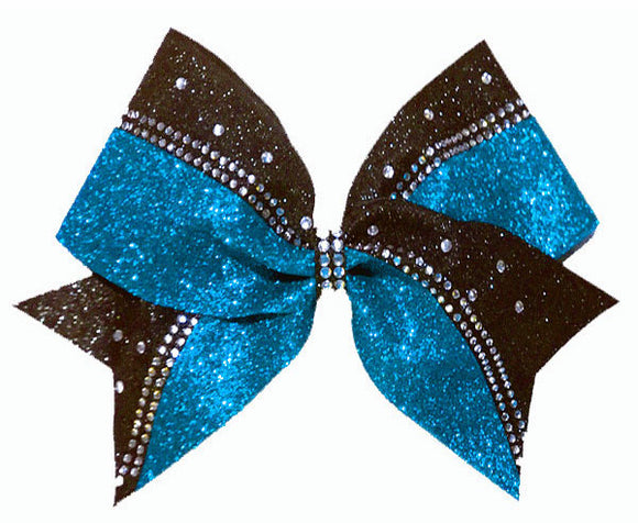 Turquoise Cheerleading Hair Bow