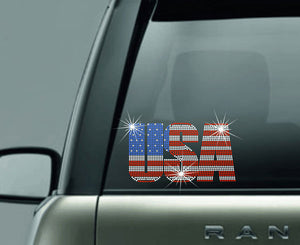 "USA-Hard Surface Decal-6"" X 6"""