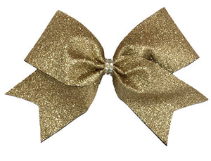 Old Gold Glitter Bow