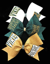 Load image into Gallery viewer, Gold Bow, Hunter Green Bow, White Bow, Glitter Bows