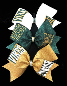 Gold Bow, Hunter Green Bow, White Bow, Glitter Bows