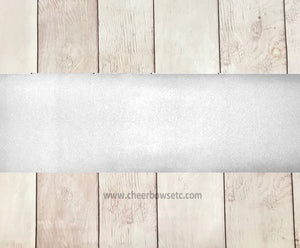 White Mystique Cut Fabric Strip