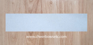 White Pre-Cut Cheerleading Bow Strips