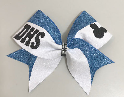 Minnie Nationals Bow Columbia Blue & Black