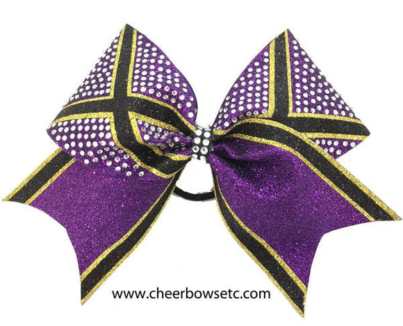 Purple & Gold with rhinestones