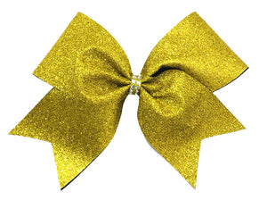 Yellow Gold Glitter Bow