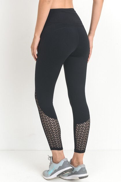 lace lined high waisted leggings