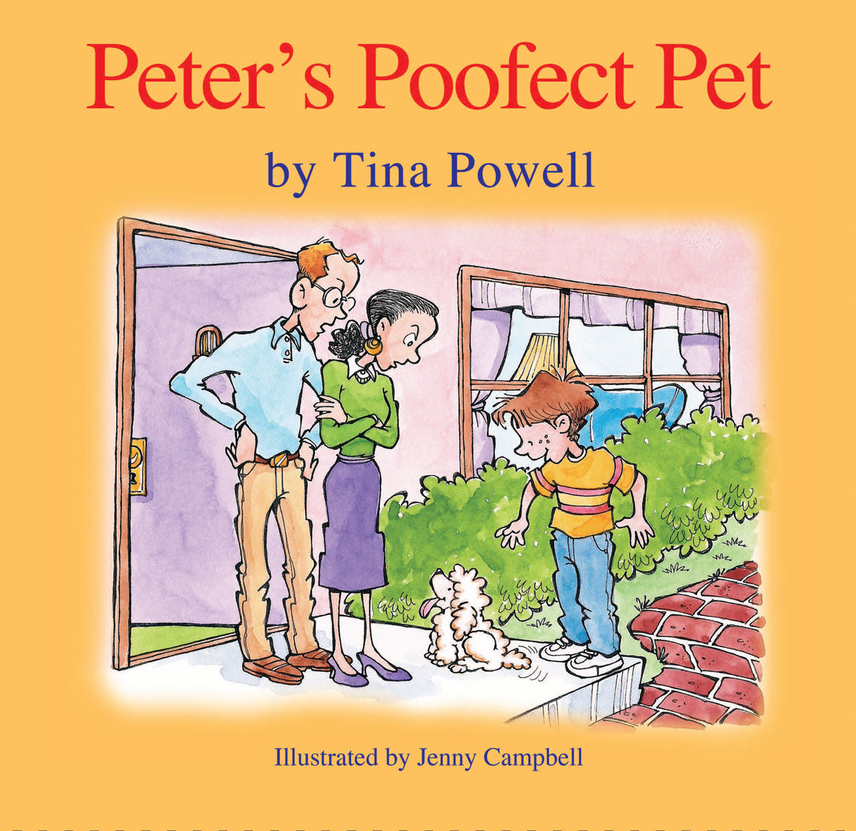 Peter's Poofect Pet Book Cover - Children's Author Tina Powell