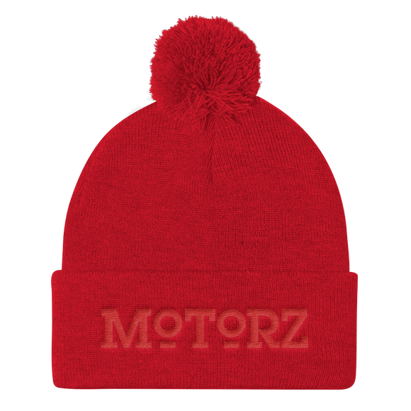 Motorz Pom Pom Knit Cap (Red Thread)