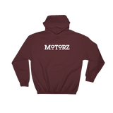 Motorz V8 Automotive Improvement® Hooded Sweatshirt (White Design)