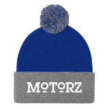 Motorz Pom Pom Knit Cap (White Thread)