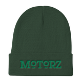 Motorz Knit Beanie (Green Thread)