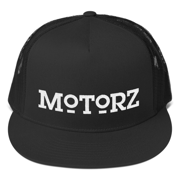 Motorz Trucker Cap (White Thread)