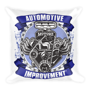 Motorz V8 Automotive Improvement® Square Pillow (Purple)