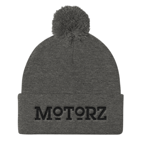 Motorz Pom Pom Knit Cap (Black Thread)