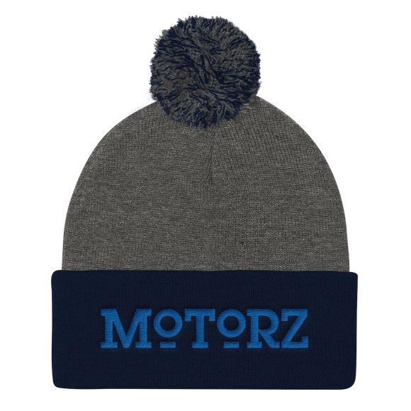Motorz Pom Pom Knit Cap (Royal Thread)