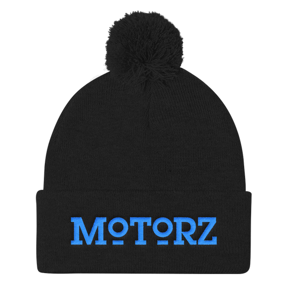 Motorz Pom Pom Knit Cap (Aqua Thread)
