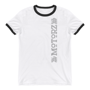 Motorz Vertical Tire Tread Ringer T-Shirt (Light Grey Design)