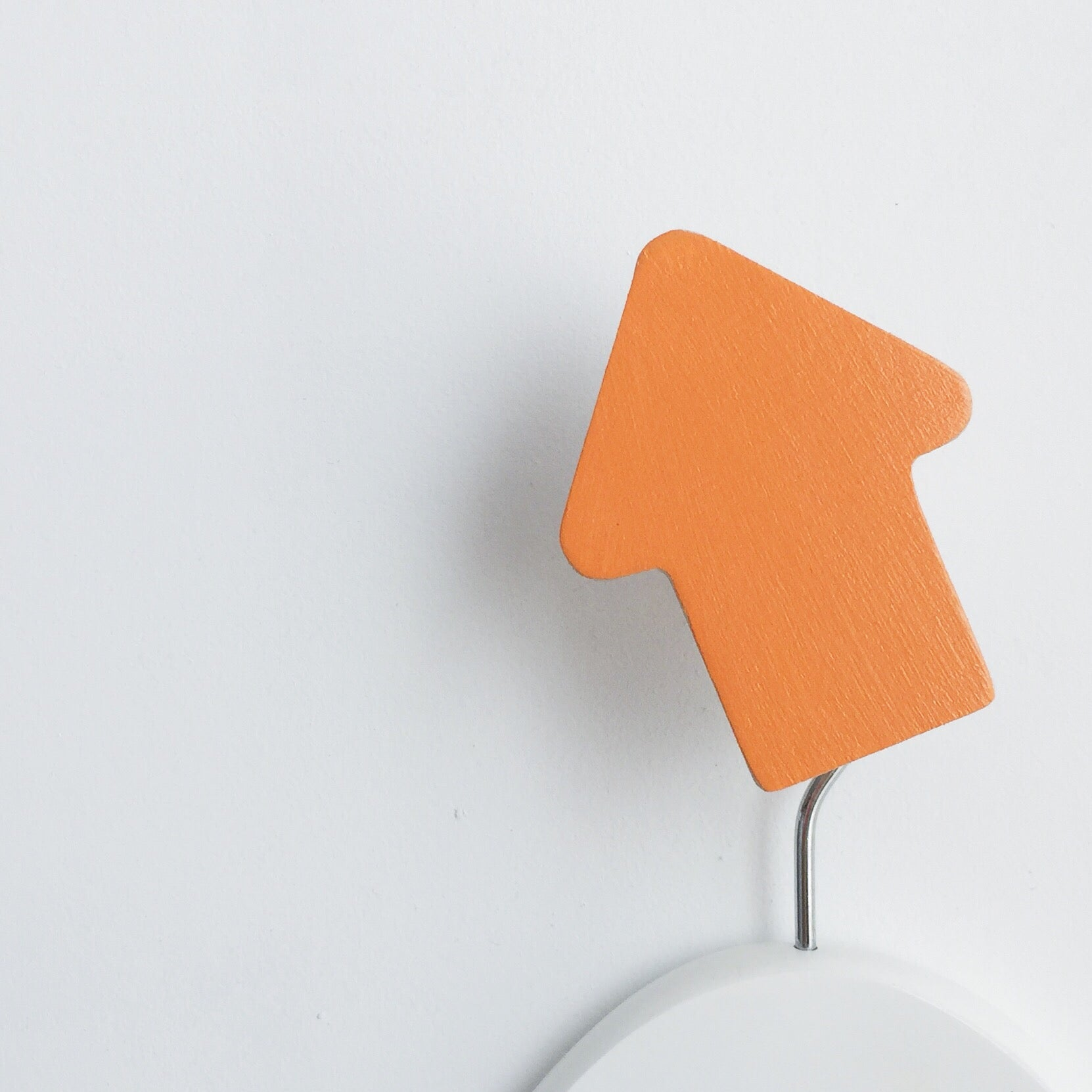 knobbly. arrow wall hook sorbet orange