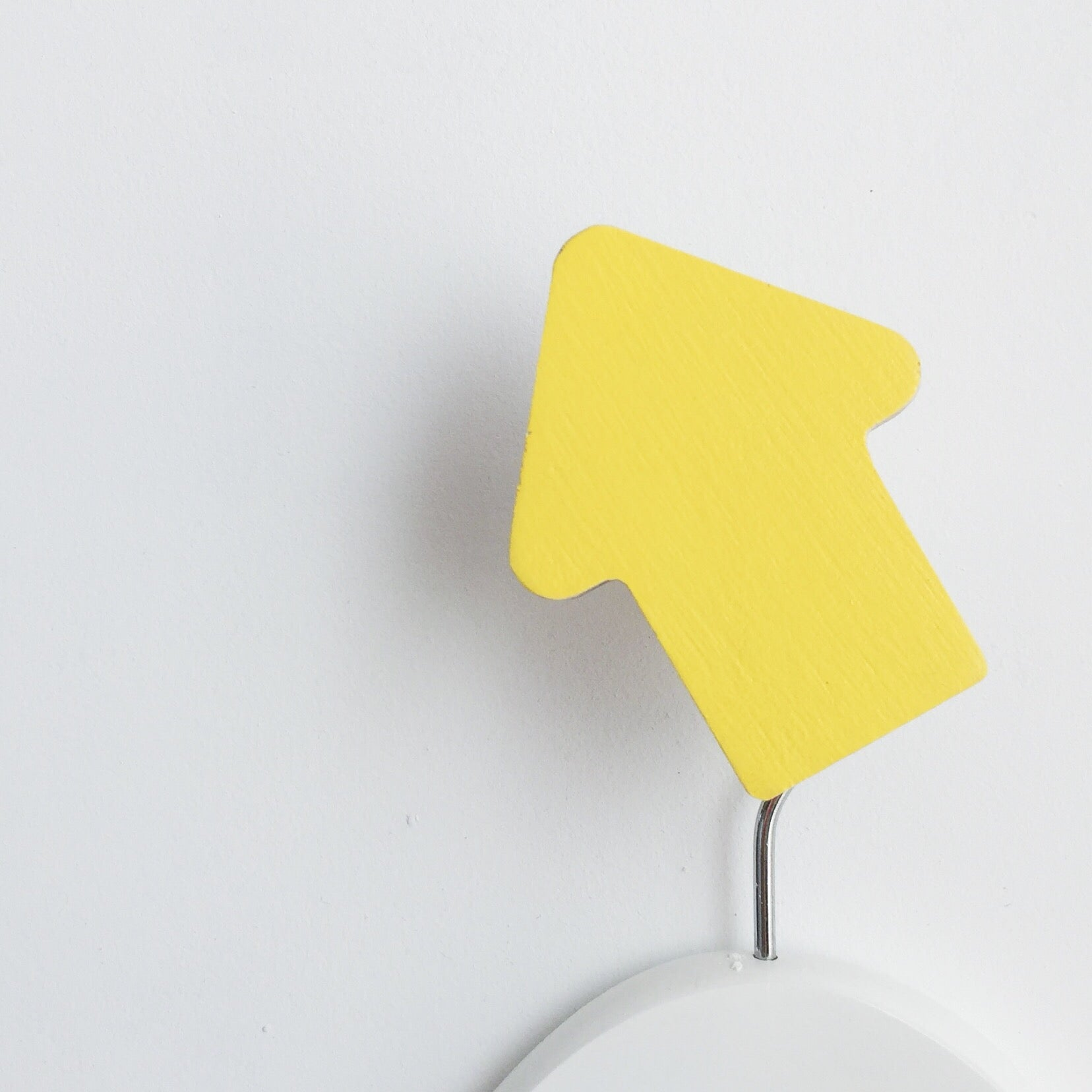 knobbly. arrow wall hook yellow