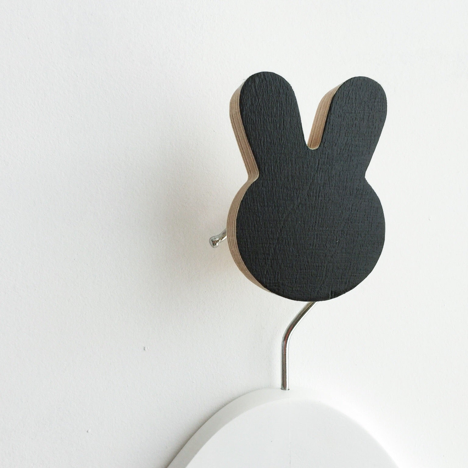 knobbly. bunny wall hook black