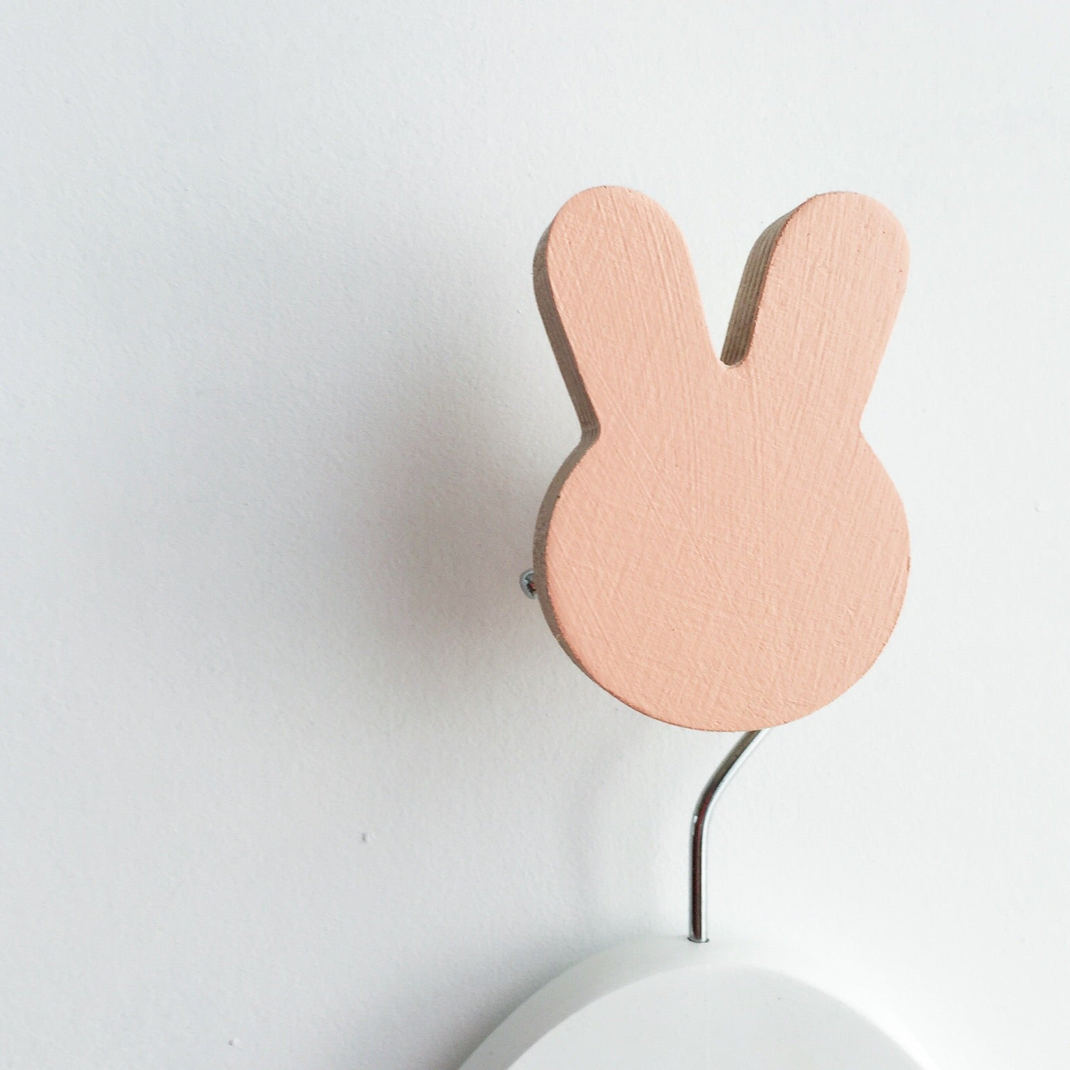 knobbly. bunny wall hook coral