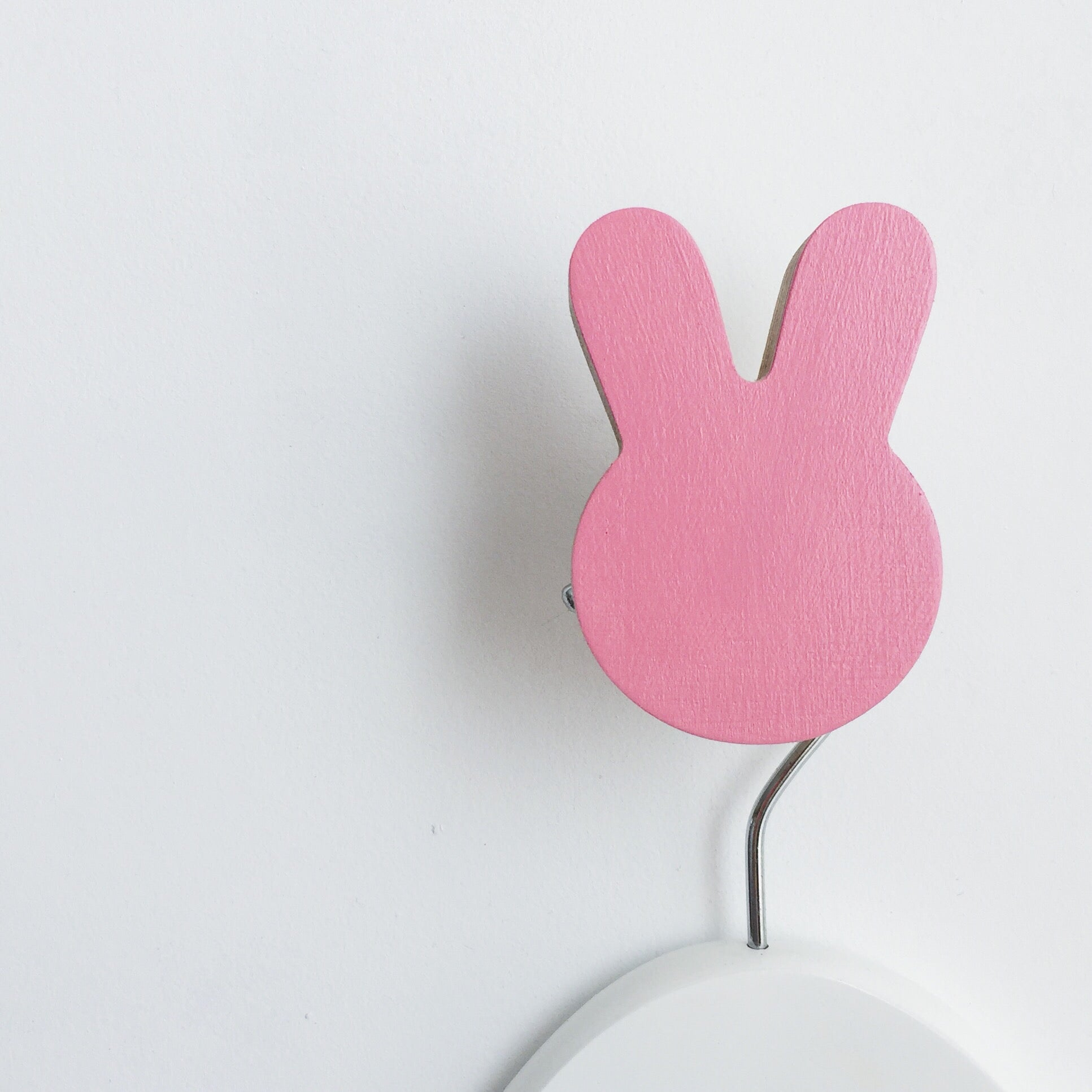 knobbly. bunny wall hook pretty in pink
