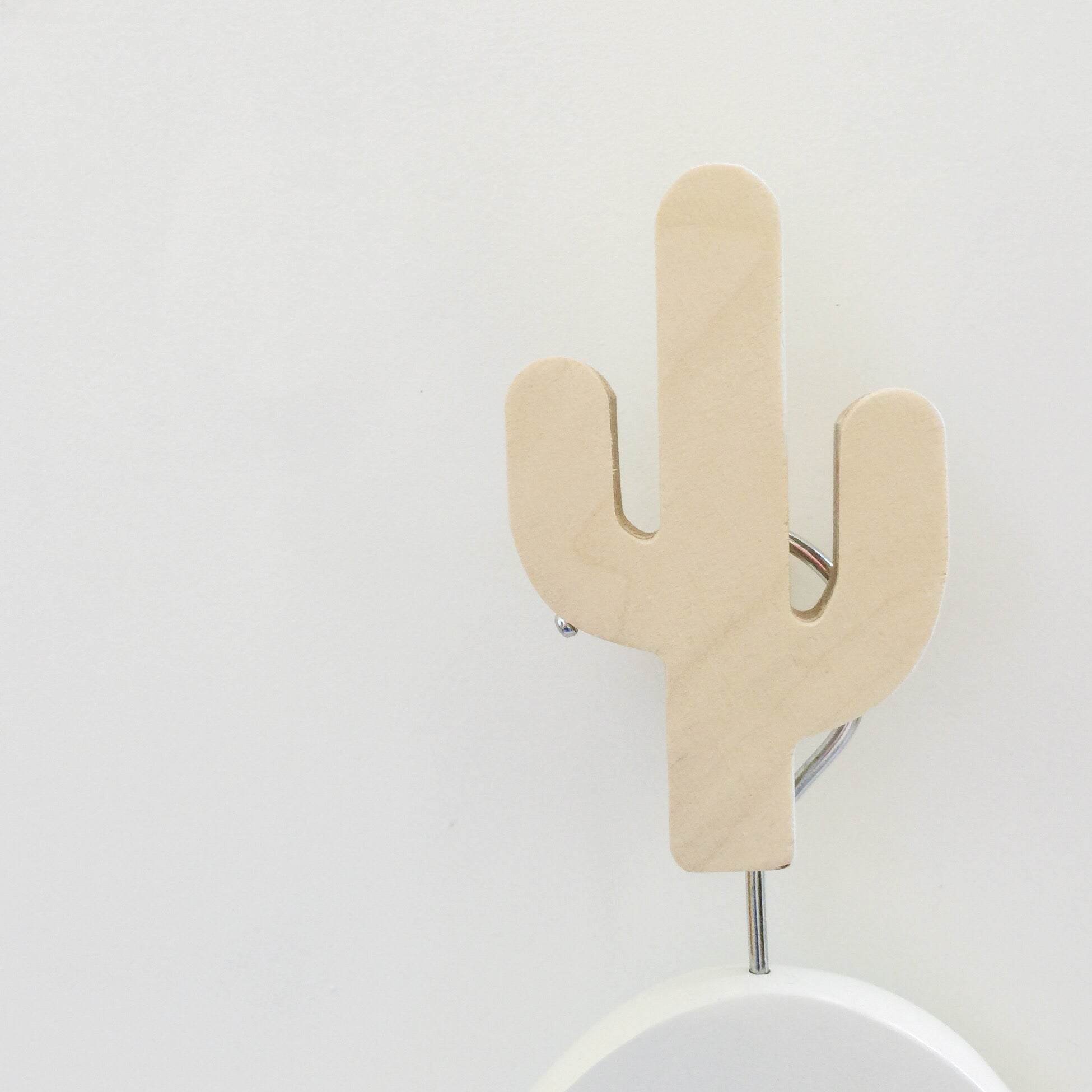 knobbly. cactus wall hook natural birch