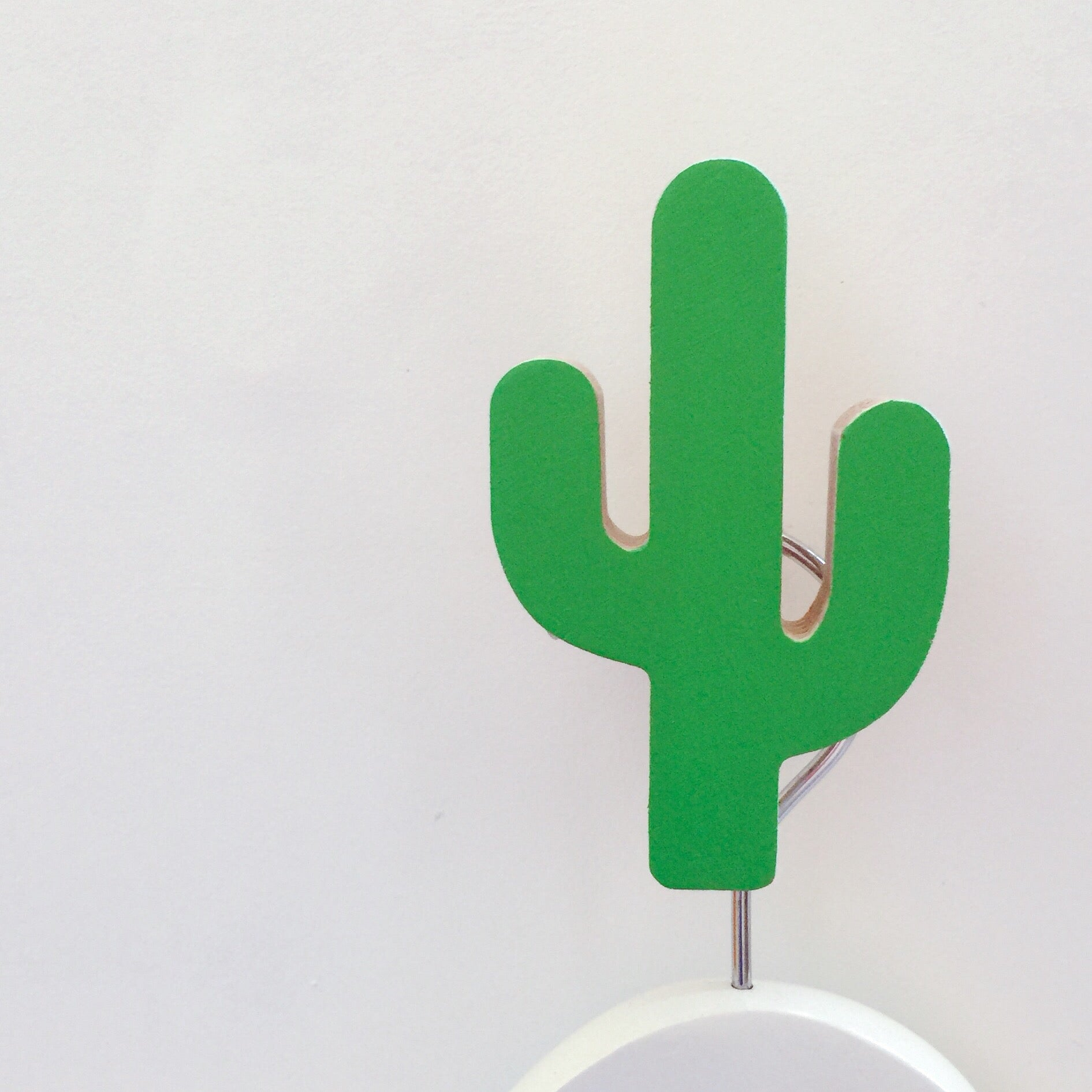 knobbly. cactus wall hook groovy green