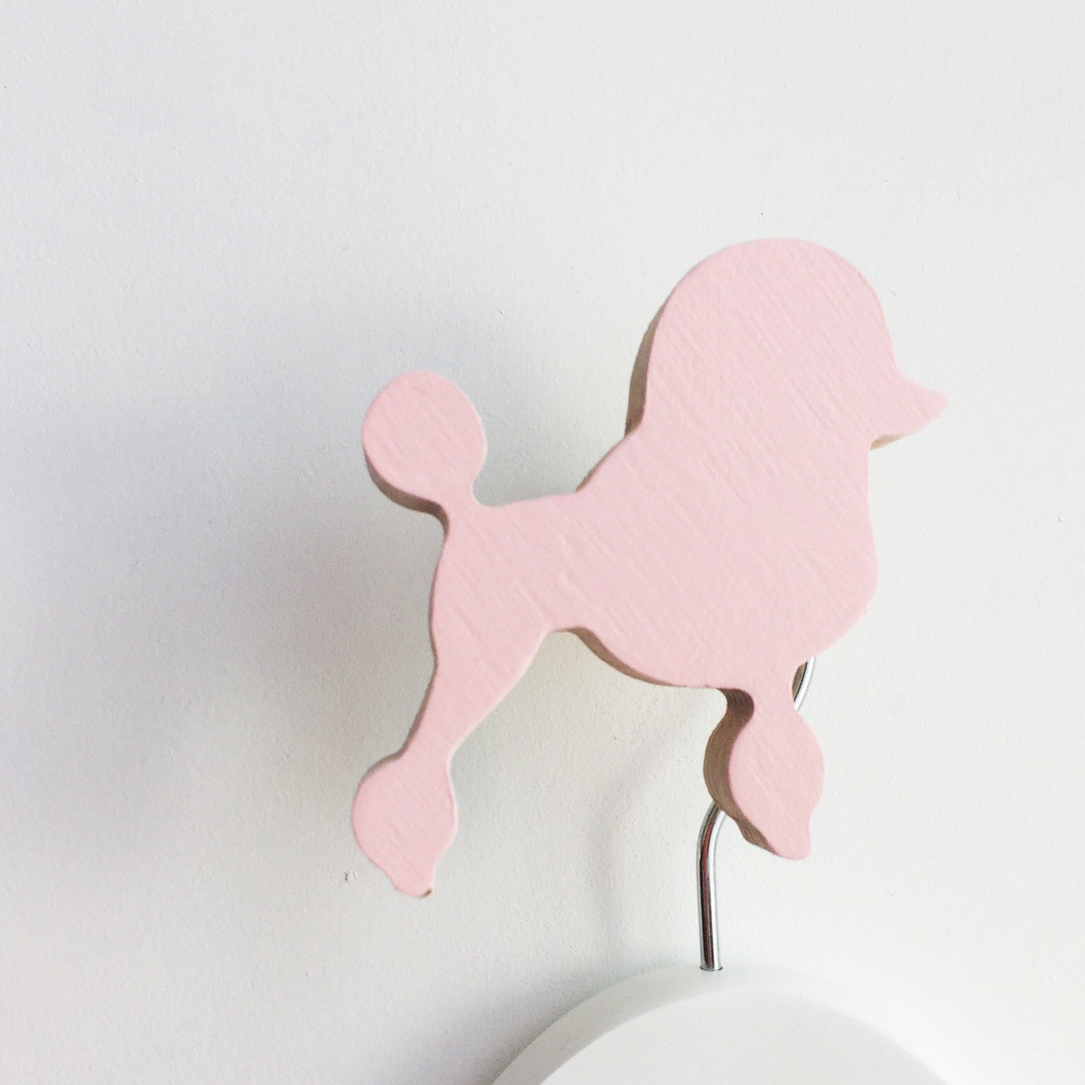knobbly. french poodle wall hook ballerina pink