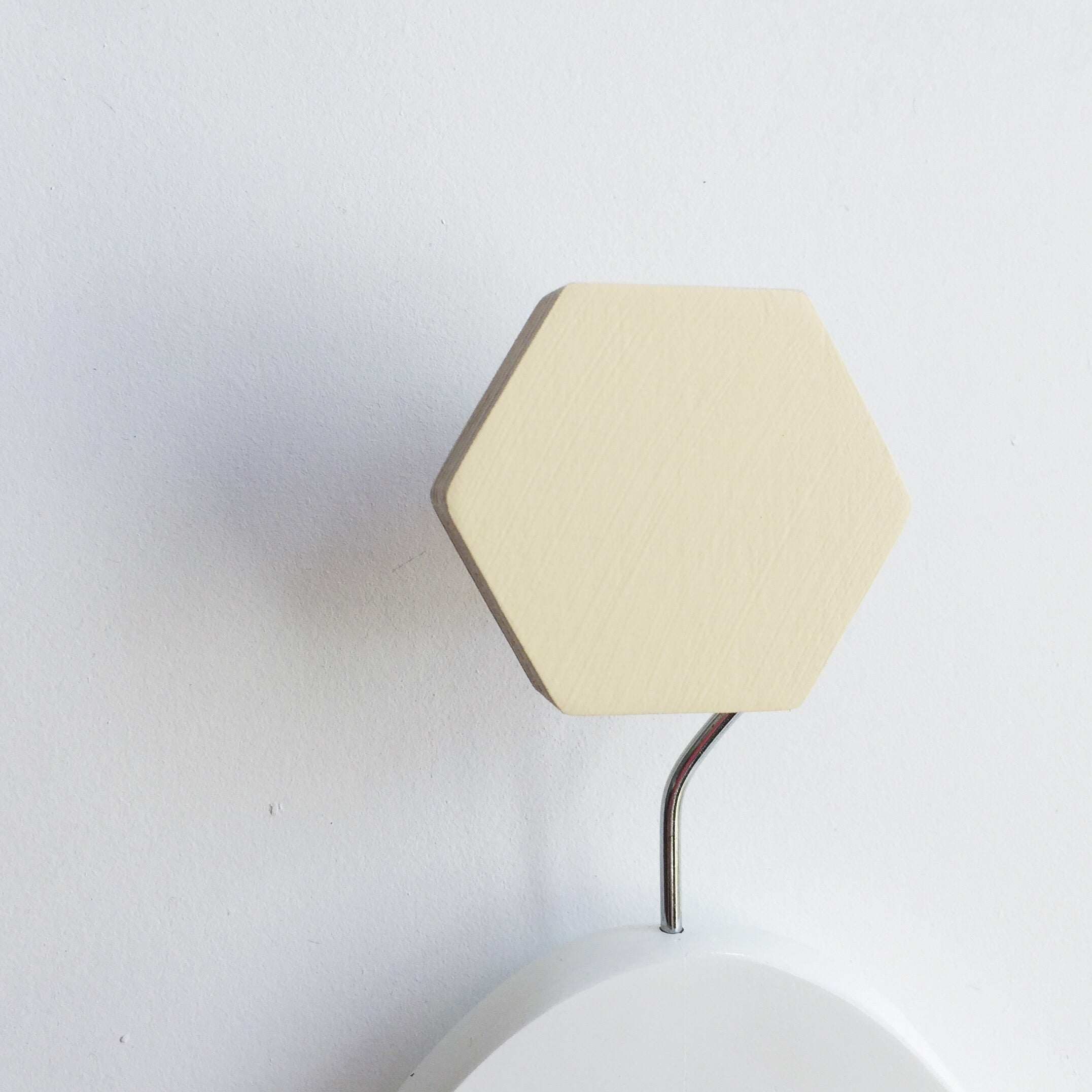knobbly. hexagon wall hook butter yellow