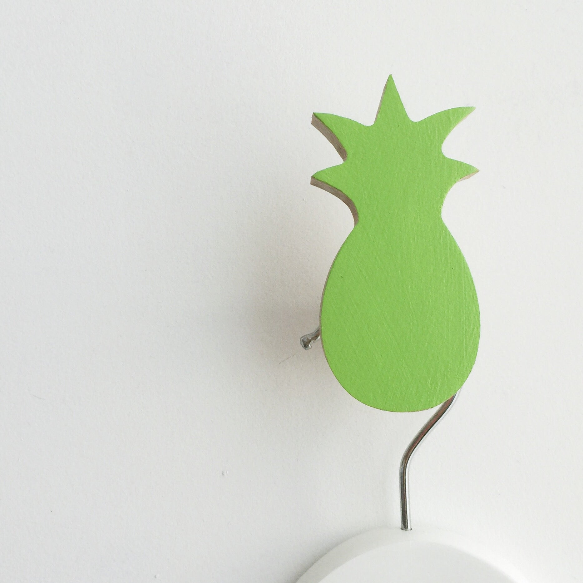 knobbly. pineapple wall hook apple green