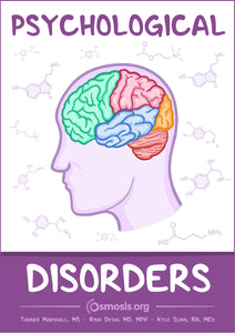 Osmosis Psychological Disorders textbook cover