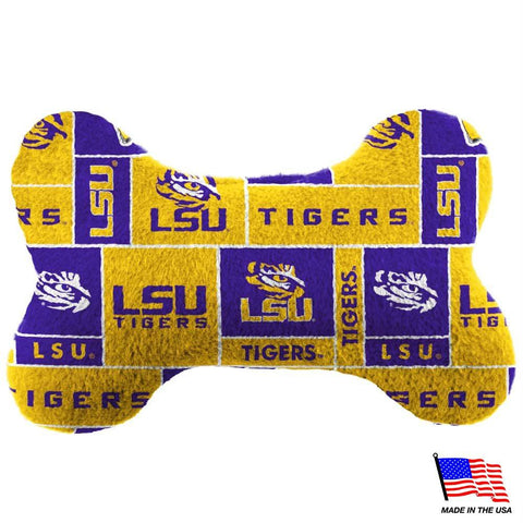 LSU Tigers Plush Bone Toy