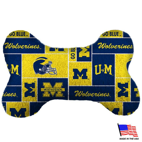 Michigan Wolverines Plush Bone Toy