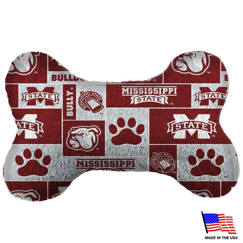 Mississippi State Plush Bone Toy