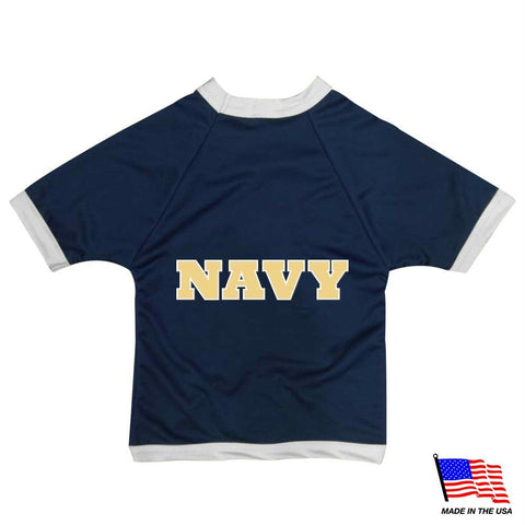 Navy Midshipmen Athletic Mesh Pet Jersey - XX-Small