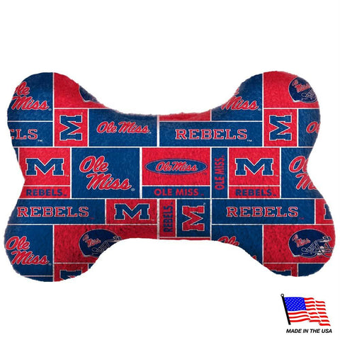 Ole Miss Rebels Plush Bone Toy