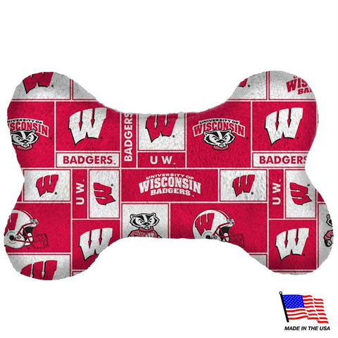 Wisconsin Badgers Plush Bone Toy