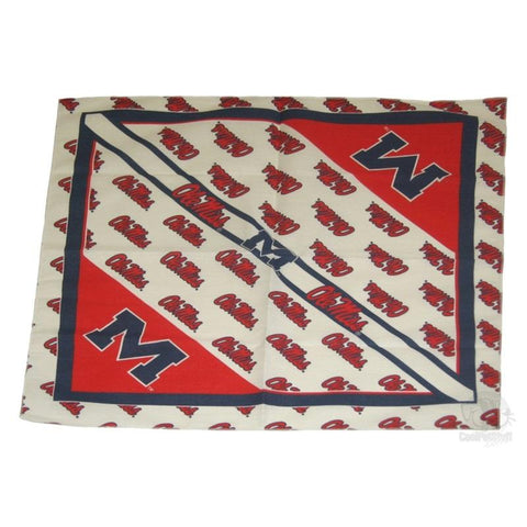 Ole Miss Rebels Square Bandana