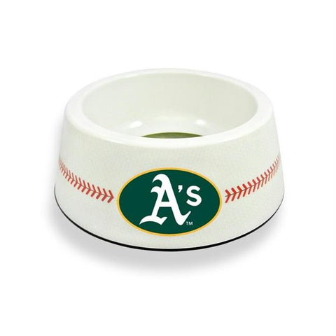 Oakland A's Classic Baseball Pet Bowl