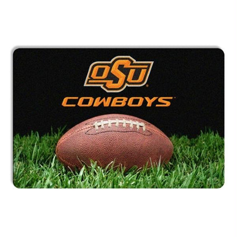 Oklahoma State Classic Football Pet Bowl Mat